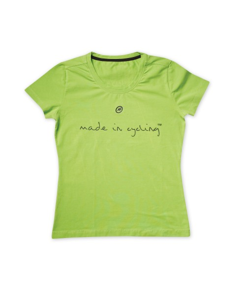 """T-Shirt """"Made in Cycling"""" SS Lady Piton Green M"""
